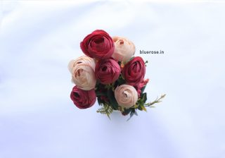 Artificial Peony Bunch Watermelon Pink Color (1)