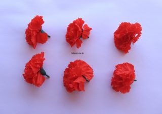 Artificial carnation flower red color (1)