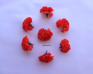 Artificial carnation flower red color (6)