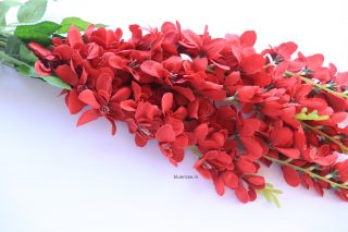 artificial hanging orchid red color (1)