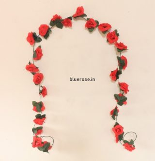 artificial hanging rose flower red color (1)