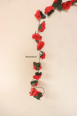 artificial hanging rose flower red color (2)