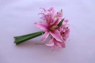 artificial lilly flower bunch set of 7 (1)