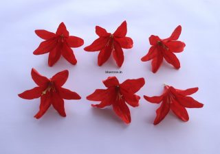 artificial lilly flowers red color (1)