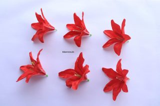 artificial lilly flowers red color (2)