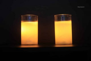 Led candle in glass and wax (2)