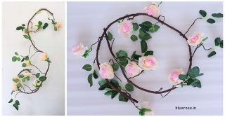 artificial root with roses (1)