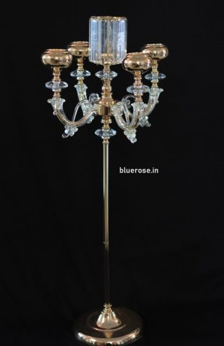 golden candle candle stand for wedding decorations (1)