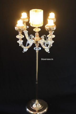 golden candle candle stand for wedding decorations (3)