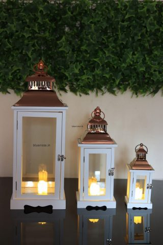 white set of 3 copper top lantern for your decorations (4)