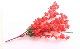 artificial blossom flower bunch red (1)