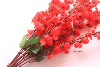 artificial blossom flower bunch red (2)