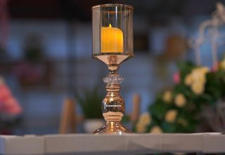 candle stand golden glass type (1)