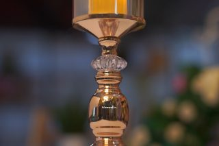 candle stand golden glass type (2)