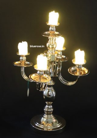 gold plated candle stands for table (3)