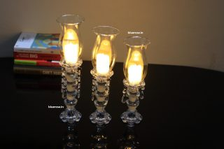 set of 3 glass crystal candle stands for you table centerpiece decorations (3)